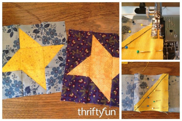 Making A Friendship Star Quilt Block Thriftyfun