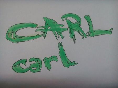 fancy letters spelling Carl