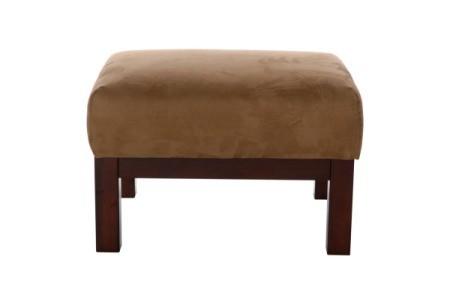 Microsuede footstool