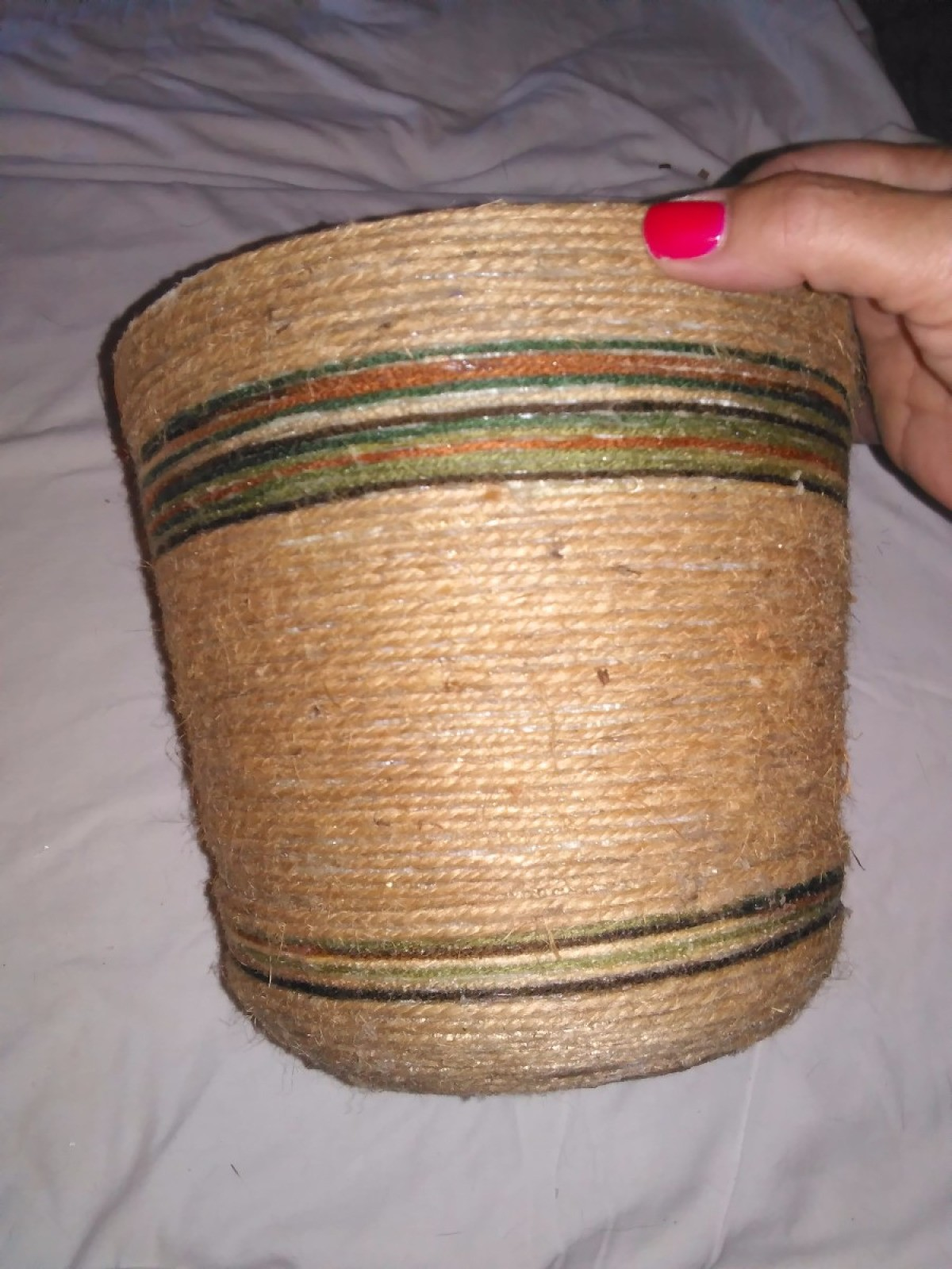 Making Twine Wrapped Flower Pots Thriftyfun