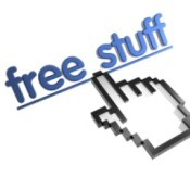 "image of hand cursor image over ""free stuff"" link"