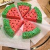 Rice Krispy Treat Watermelon Slices