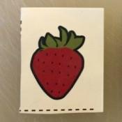 Strawberry Temporary Tattoo