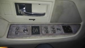 water damage on door panel