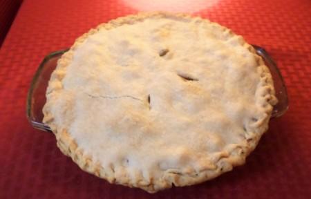 A homemade chicken pot pie.