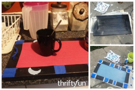 Turning a Cupboard Door Into a Tray