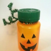 Pill bottle pumpkin