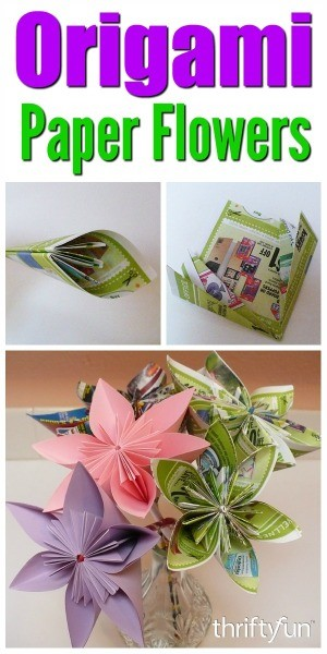 Making an origami paper flower thriftyfun mightylinksfo