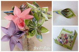 Making an Origami Paper Flower