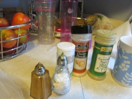 Vertical Roast Chicken - spices