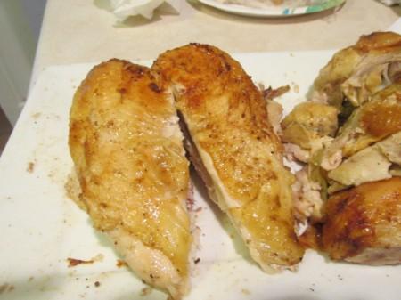 Vertical Roast Chicken - cooked chicken