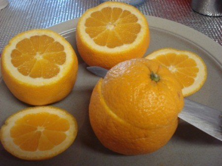 Cinnamon Buns in Orange Cups