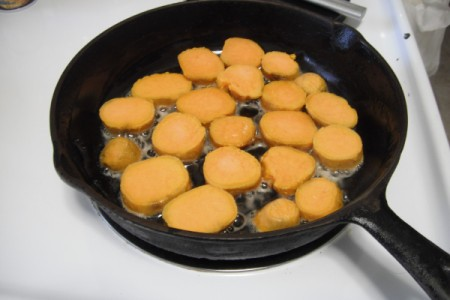 Fried Frozen Sweet Potatoes
