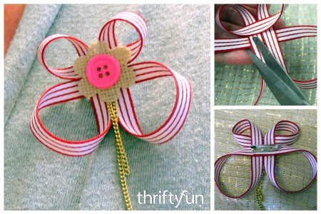 Making a Ribbon Brooch