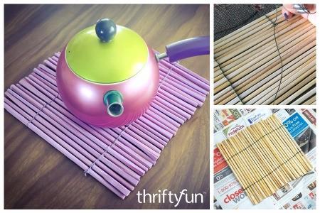 Making a Chopstick Trivet