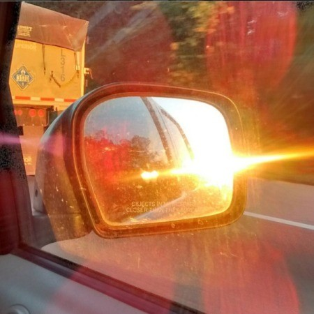 Amazing Rearview Sunset