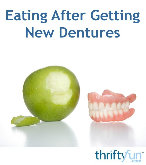 Losing weight with new dentures