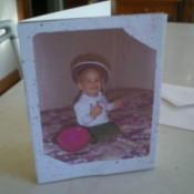Sharing Precious Photos - baby photo on adult child's birthday card