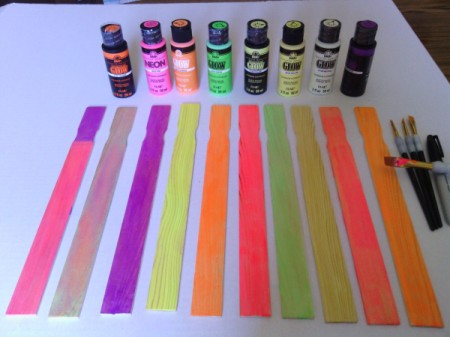 Paint Mixing Stick Glow in the Dark Decoration