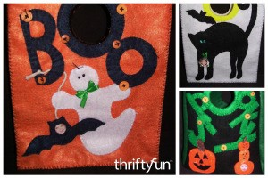 Felt Halloween Treat Bags