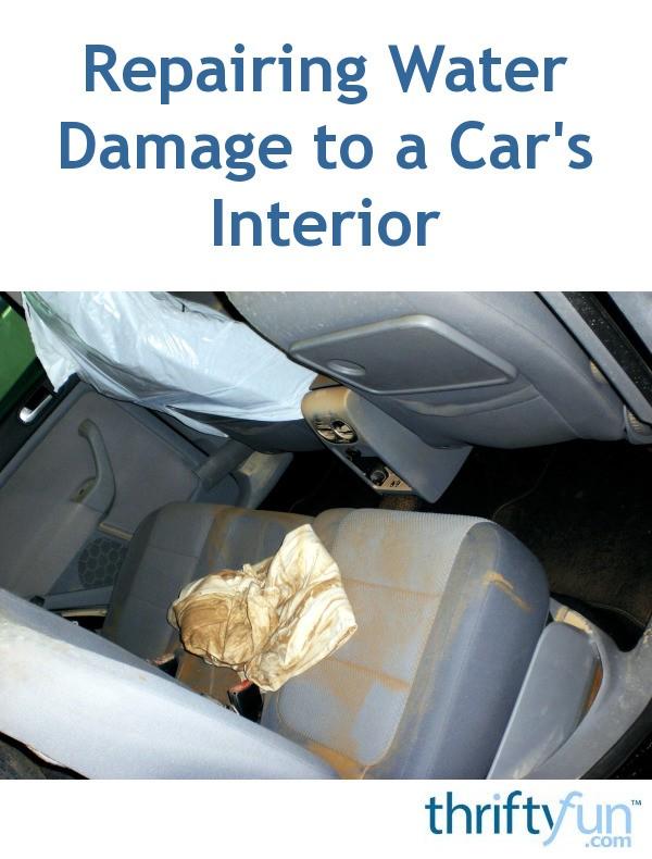 water damage in car interior. Black Bedroom Furniture Sets. Home Design Ideas