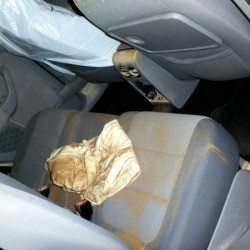 Car with major water damage to interior