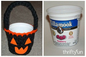 Crochet Halloween Treat Cup