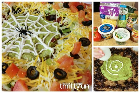 Spider Web Layered Taco Dip