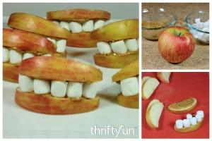 Making Apple Monster Mouths