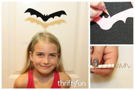 Making a Wiggly Bat Headband