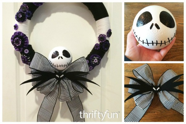 making a nightmare before christmas yarn wreath - Making Of Nightmare Before Christmas