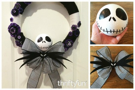 Making a Nightmare Before Christmas Yarn Wreath