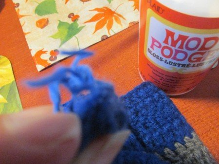 Use Modge Podge for Crochet Knots or Frays