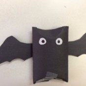 black paper bat