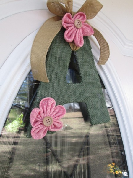 Making A Monogram Door Ornament