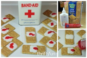 Making Halloween Band-Aid Cookies