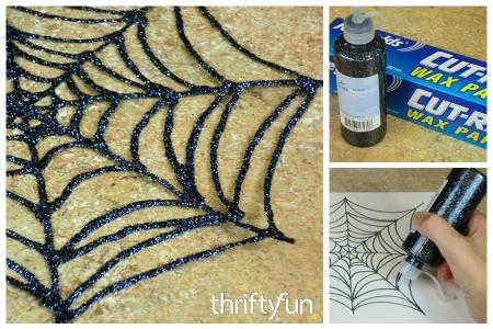 Glitter Glue Spiderweb