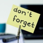 Don't forget reminder on a sticky note.