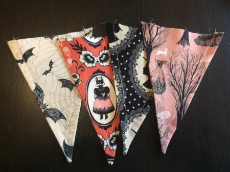 Halloween Mantel Pennants