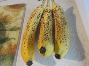 Ripe bananas.