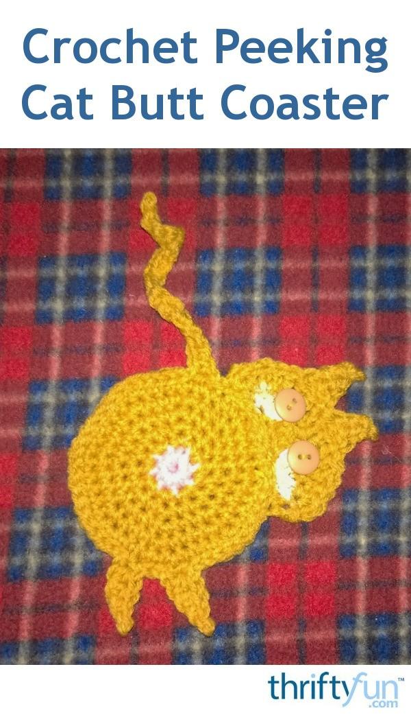 Cat Butt Coaster Free Crochet Patterns | 1042x600