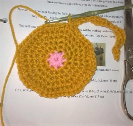 Crochet Peeking Cat Butt Coaster