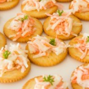 Crab Appetizer on Crackers
