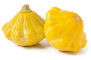 Two patty pan squash.