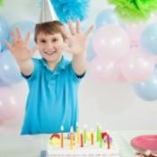 A boy on his 10th birthday.