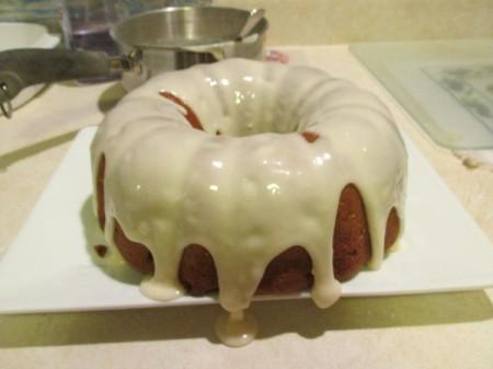Applesauce Raisin Cake with Butter Cream Icing