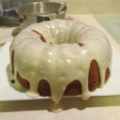 Applesauce Raisin Cake with Butter Cream Icing