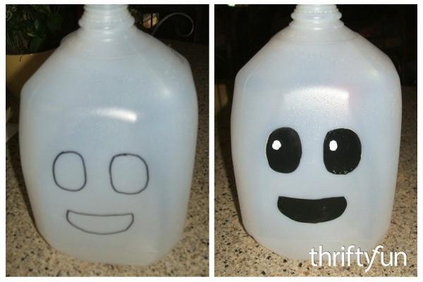 making a milk jug ghost thriftyfun