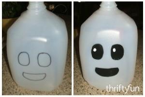 Making a Milk Jug Ghost