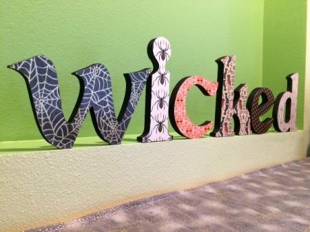 Wooden Halloween Letters